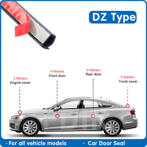 Image 3 - 도어 씰 DZ 유형 자동차 도어 고무 보닛 엔진 씰링 스트립 자동차 트렁크 커버 자동차 고무 씰 자동차 방수 씰 자동