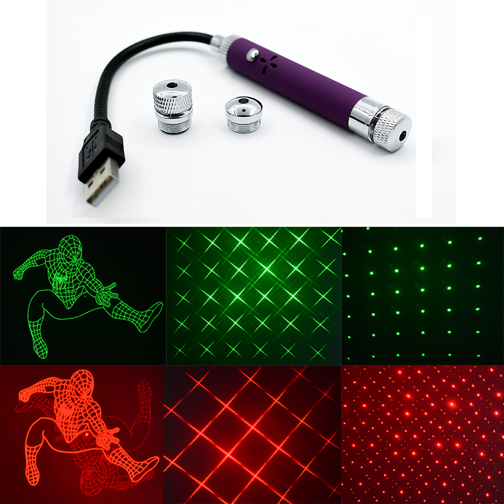 3 Lighting Mode Party Stage Light Sound Activated Laser Projector Star Lights Mini USB Atmospheres Lights For Disco DJ Car Decor
