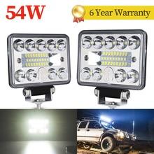 54W 3 zoll Led licht bar barra auto licht Für 18led arbeit bar offroad SUV ATV Traktor Boot Lkw bagger 12V 24V led arbeit licht