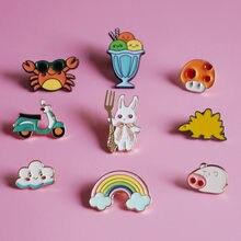 Mini Brooches enamel Pin Lapel Pins Shirt Denim Jacket unisex Little Badges Fashion Jewelry Gifts for Kids Women Men