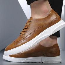 Туфли мужские кожаные в британском стиле повседневные кроссовки