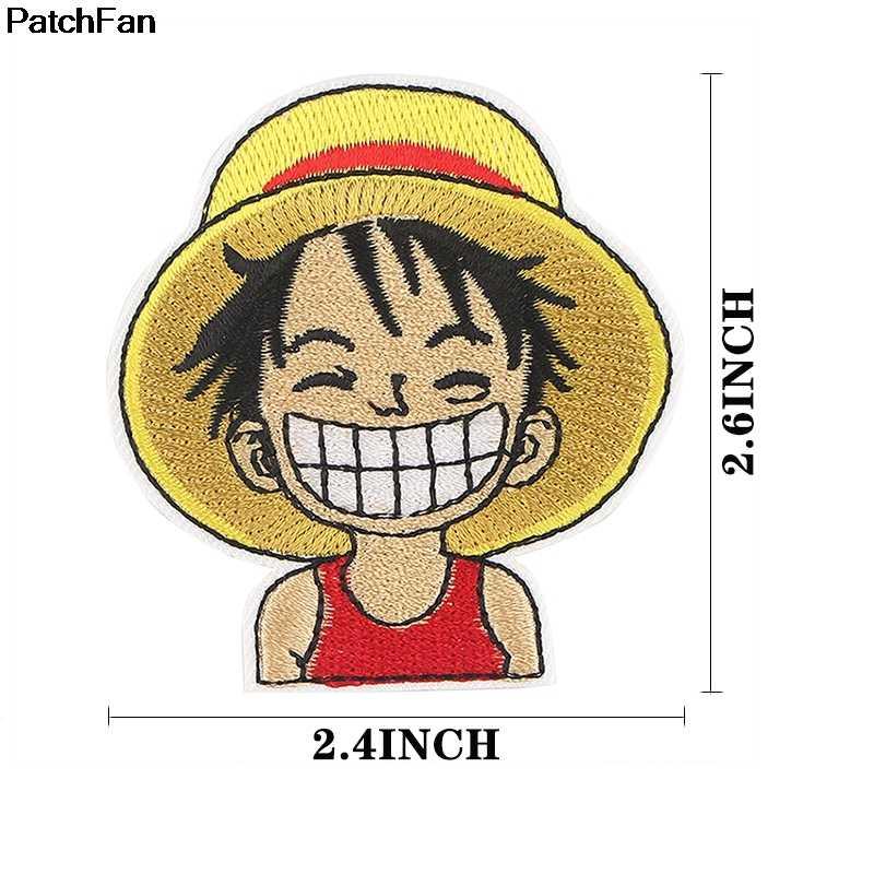 Patchfan ONE PIECEการ์ตูนเย็บปักถักร้อยApplique Patchesสติกเกอร์เย็บบนเสื้อผ้าเสื้อผ้าParaเสื้อBadge Ironบนเสื้อยืดA2654