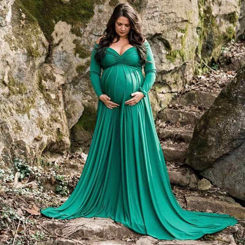 Vestido longo para a maternidade, de cauda longa para foto, shoot, fotografia de maternidade, adereços, vestidos maxi para mulheres grávidas, roupas para gravidez