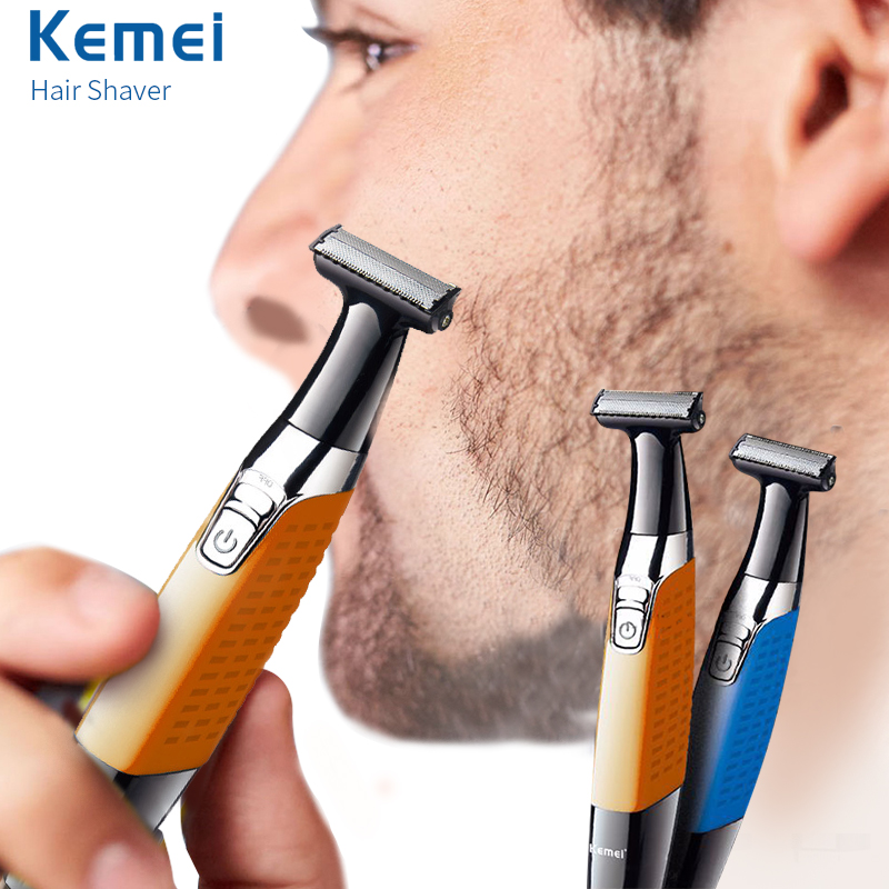 Keimei Electric Beard Trimmer Hair Trimmer USB Rechargeable Shaver For Men Professional Epilator One Blade Beard Clipper Razor