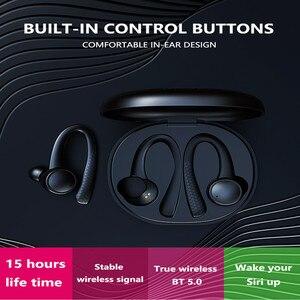 Image 3 - سماعات لاسلكية TWS رياضية مزودة بتقنية البلوتوث سماعة رأس ستيريو بلوتوث 5.0 من السيليكون الناعم Hifi مزودة بصندوق شحن T7 Pro للهواتف