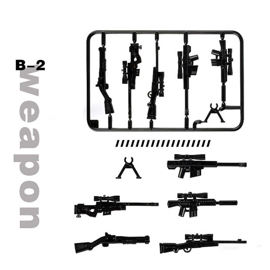 جديد العسكرية Swat فريق البنادق سلاح حزمة اللبنات مدينة الشرطة الجنود الشكل WW2 الجيش منشئ سلسلة اللعب zk28