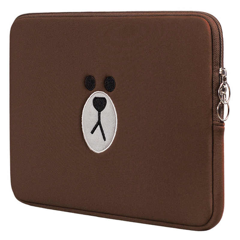 Oso marrón carácter animado Laptop bolsa 12 13 14 15,6 pulgadas para Macbook Air Pro 13 15 Notebook Sleeve bolsita para tablets funda para IPad 7,9 9,7