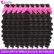 Loose Deep Wave Bundles 100% Human Hair 3/4/5/10 Bundles/Pack Wholesale Price Brazilian Loose Deep Wave Curly Hair Bundles Deal