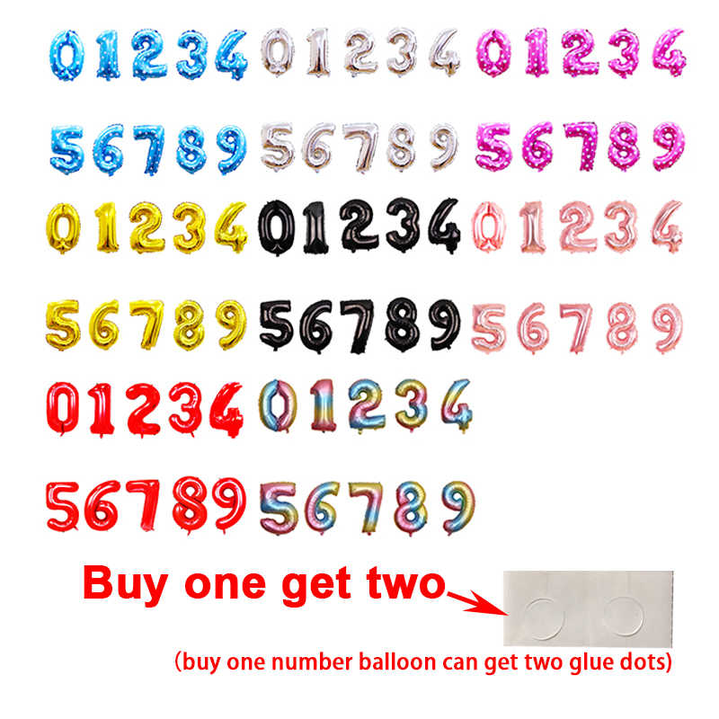 Big Number Balloon 16 32 40 Inch Aluminium Foil Balloons Figures Birthday Party Decorations Air Helium Number Balloon 40 Inch