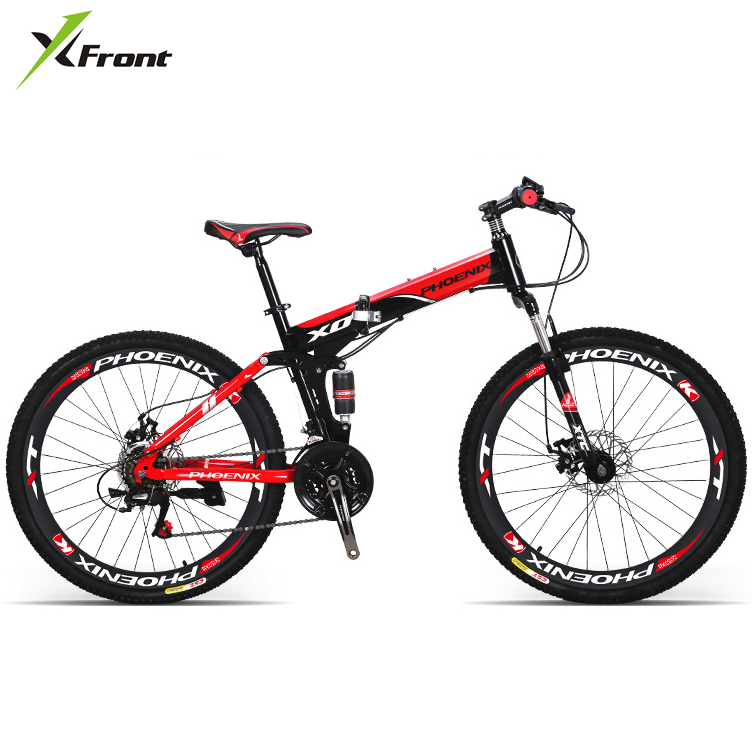 New X-Front brand carbon steel 26 inch 21/27 speed mountain bike outdoor downhill bicicleta MTB folding bicycle image
