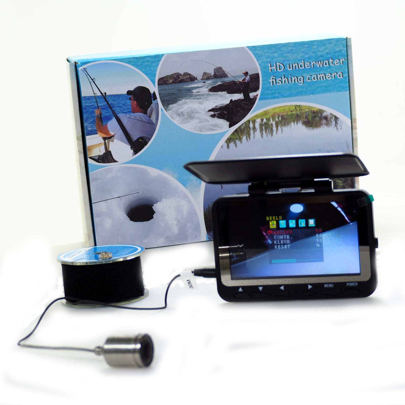 WF06 Fish Finder Underwater Fishing Camera 1000TVL Waterproof Video Underwater Camera 8PCS Infrared Camera ICE Fishing