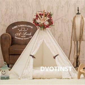 Image 5 - Dvotinst bebê recém nascido fotografia adereços mini wigwam tenda decoração fotografia acessórios infantil estúdio tiro foto prop