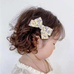 Hair-Clips Printed Handmade Girls Children's Bow for Good-Quality Lovely Dot