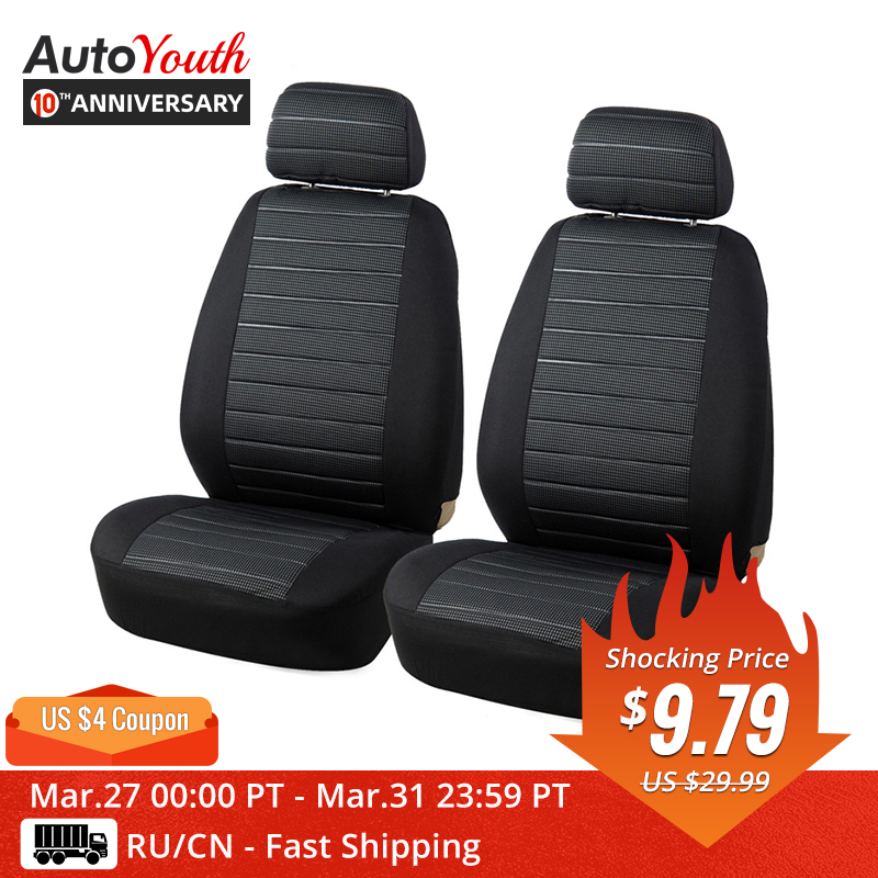 AUTOYOUTH Car-Seat-Covers Fit Universal SUV Most Front for 3-Color Airbag-Compatible title=