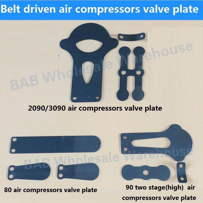 3 Pcs/set Belt Driven Air Compressors Valve Plate For 2090/3090,80,90(high)two Stage Air Compressors