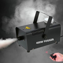 Máquina de niebla de 400W para fiesta de Halloween, boda, efecto de escenario, cable o Control remoto inalámbrico, Mini máquina de niebla, eyector de humo