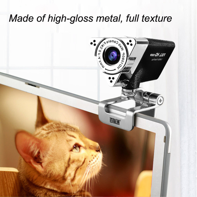 Web Camera Lens HD 1080P Visual 65 Degree Angle Adjustable Focus Manual Rotate Lens With Digital Microphone to Keep Clear Sound 5