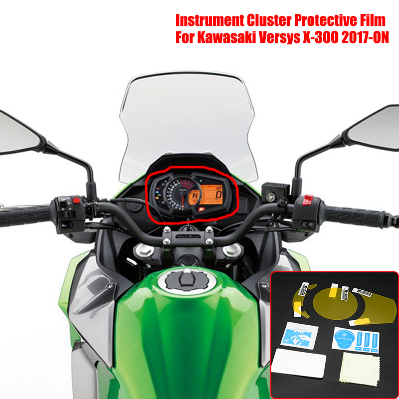 2017+ 3 x Ultra Clear Speedo Angels SAKA93UC Dashboard Screen Protector for Kawasaki Versys X-300