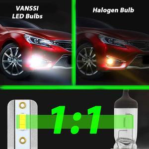 Image 3 - VANSSI 2Pcs H8 H11 LED ערפל נורות H16 H10 9145 HB3 9005 HB4 9006 LED ערפל מנורת סופר בהיר 4000lm CSP שבבים, לבן 6000K