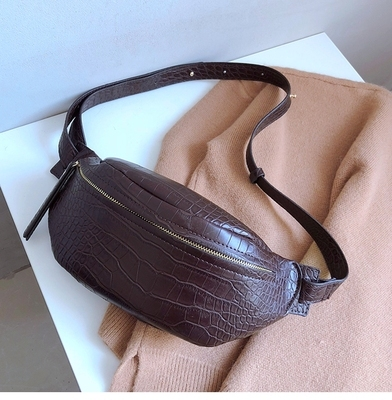 Crocodile Pattern PU Leather Waist Bags  4