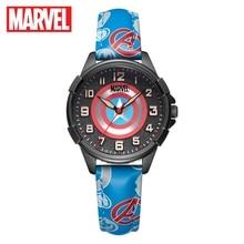 Marvel Avengers Captain America Spider Men Children Quartz Waterproof Watch Boy Soft PU Band Kid Gift Student Clock Disney Child