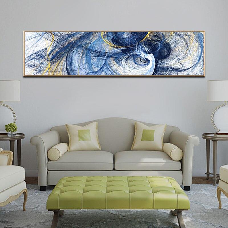 Não emoldurado abstrato colorido linha quadros da arte da lona quadros de parede cartazes decorativos para sala estar quarto hotel decoração casa