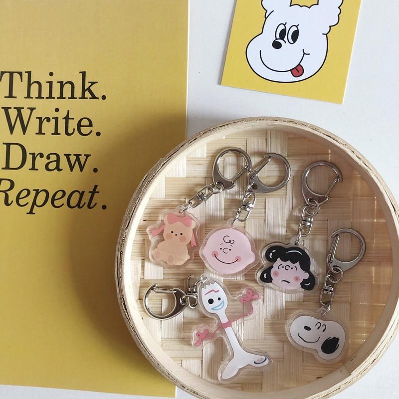 Cute Keychain Cartoon Bead Chain Lanyard Bag Pendant Keychain Girl Hanging Jewelry