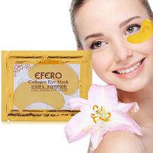 EFERO 5/10Pair 24k Gold Powder Crystal Collagen Eye Mask Anti-Aging Patches Pad Eliminates Dark Circle Fine Lines Face Care
