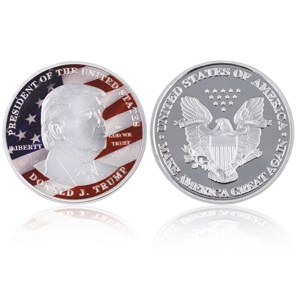 Grosir Hot Sale Donald Trump Koin Perak Koleksi Koin Logam Amerika - Dekorasi rumah - Foto 4