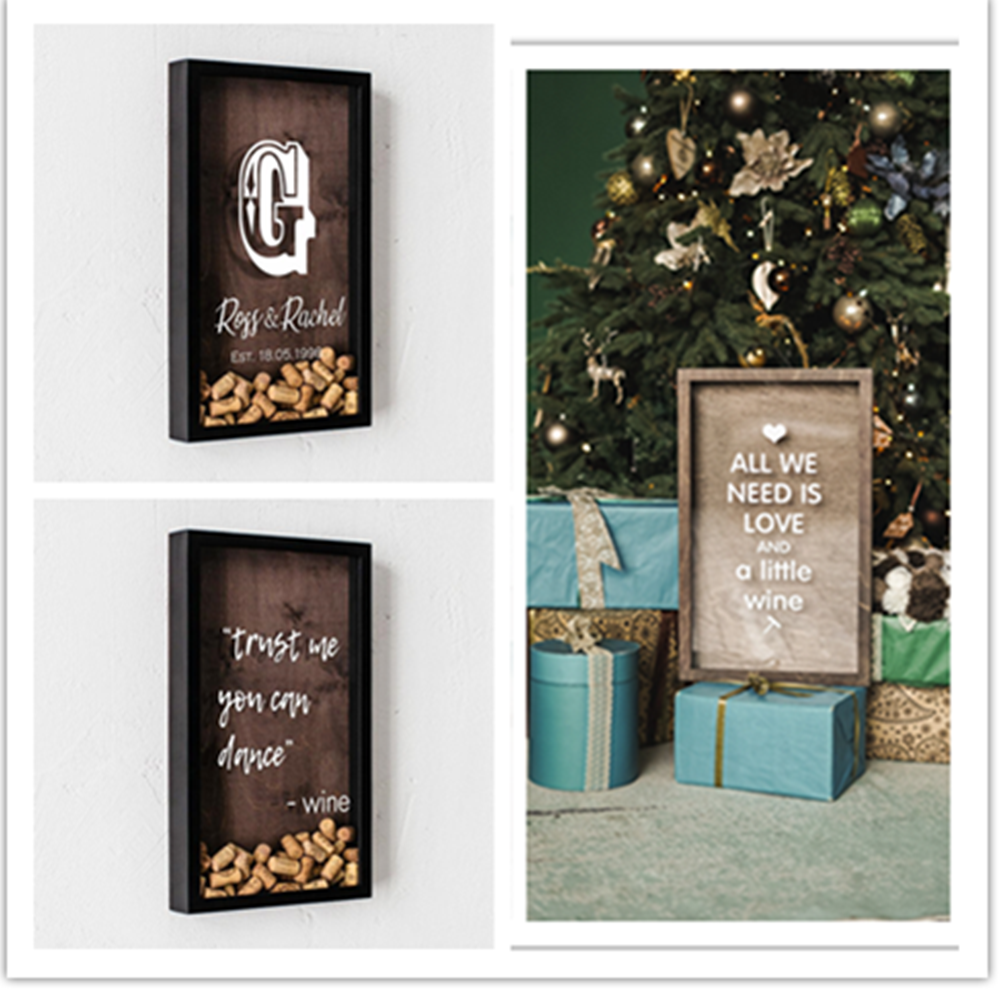 Custom Wine Cork Drop Box,alternative Guest Sign In Book,Wine Cork Holder Display,Wine Shadow Box,lovers Gift,wedding Keepsake