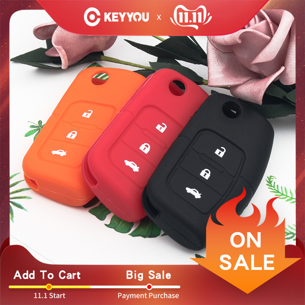 KEYYOU Silicone Car Flip Folding Key Cover Remote Case For Ford Fiesta Focus 2 Ecosport Kuga Escape 3 Buttons Free Shipping
