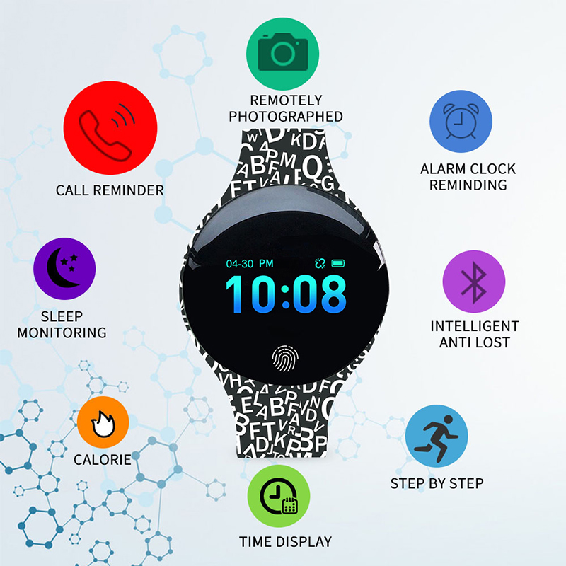SANDA-montre de Sport pour femmes, étanche, calorimètre, Bracelet, luxe, moniteur de sommeil, GPS, pour Android et IOS 6