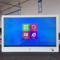 15 18 인치 벽 마운트 광고 디스플레이 디지털 광고 플레이어 qcode 스캐너 및 rfid reade lcd 터치 스크린