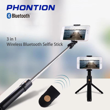 extendable self selfie stick handheld monopod bluetooth shutter remote controller clip holder for iphone android samsung htc ect K07 Wireless Bluetooth Selfie Stick Extendable Gimbal Handheld Monopod Foldable with Remote Shutter Tripod for Phone Gopro Camer