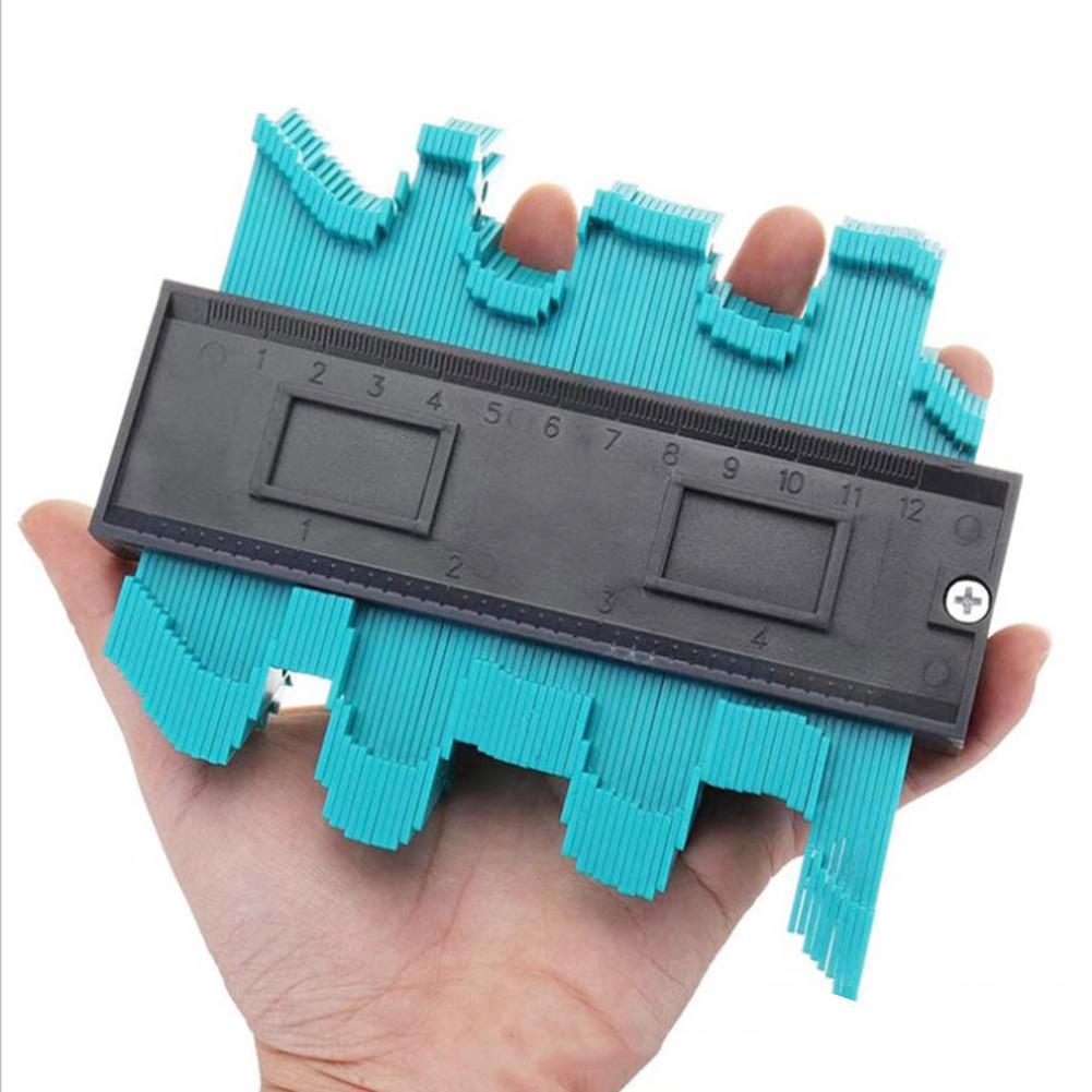 Profile Gauge Shape Duplicator 10 Inch(25cm) Plastic Woodworking Shape Tracing Template Measuring Tool Precisely Copy Irregular