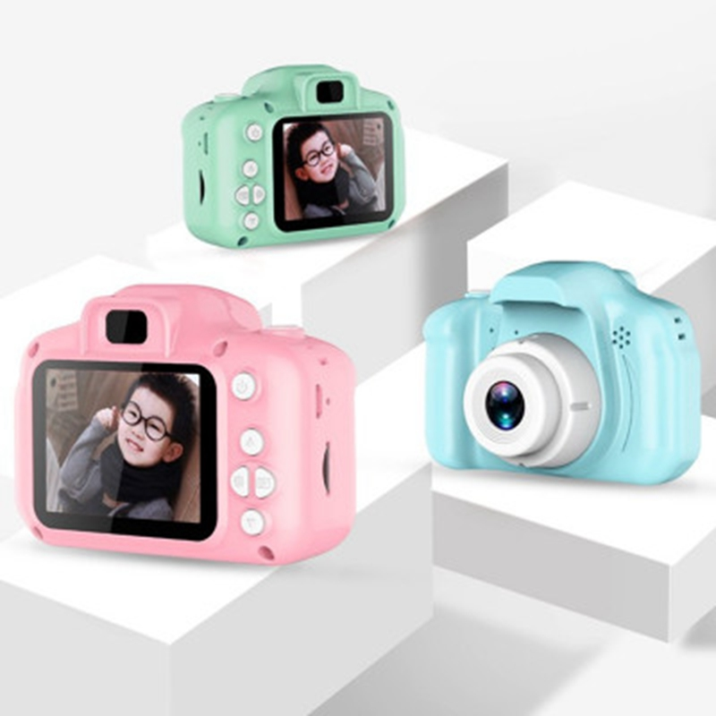 Children Mini Digital Camera Toys For Kids 2 Inch HD Screen Cartoon Cute Camera Photography Props Cute Baby Child Birthday Gift
