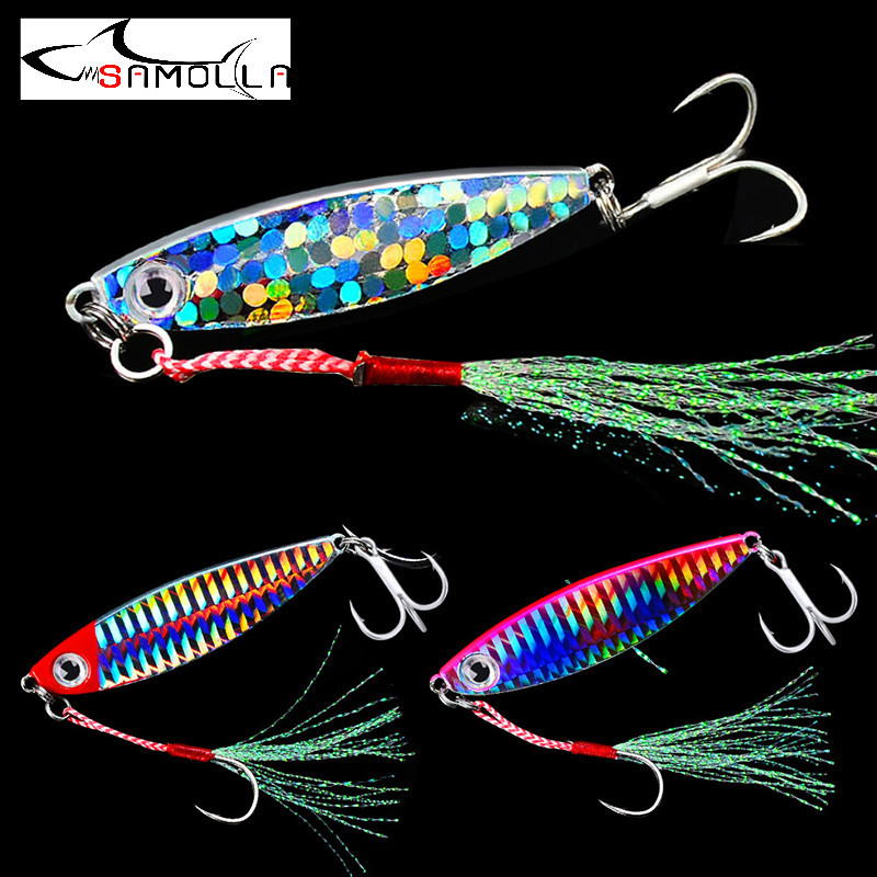 Jig Fishing Lures Bass Fishing Jigs Weights 7-30g Holographic Ephemera Metal Jig Trolling Lure Saltwater Lures Isca Artificial