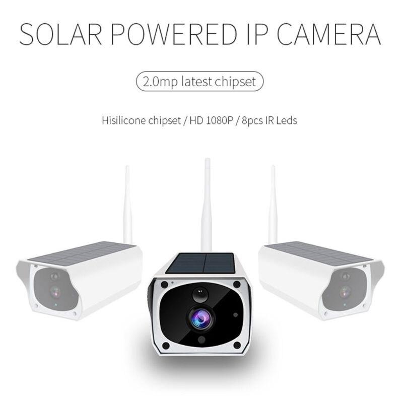 Solar WiFi IP Camera 1080P HD Wireless Security Camera PIR Motion Home Detector