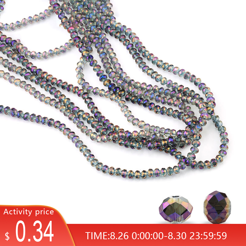 150pcs 4mm shiny faceted round Beads 5040 crystal beads Loose Spacer Beads Rondelle Austria
