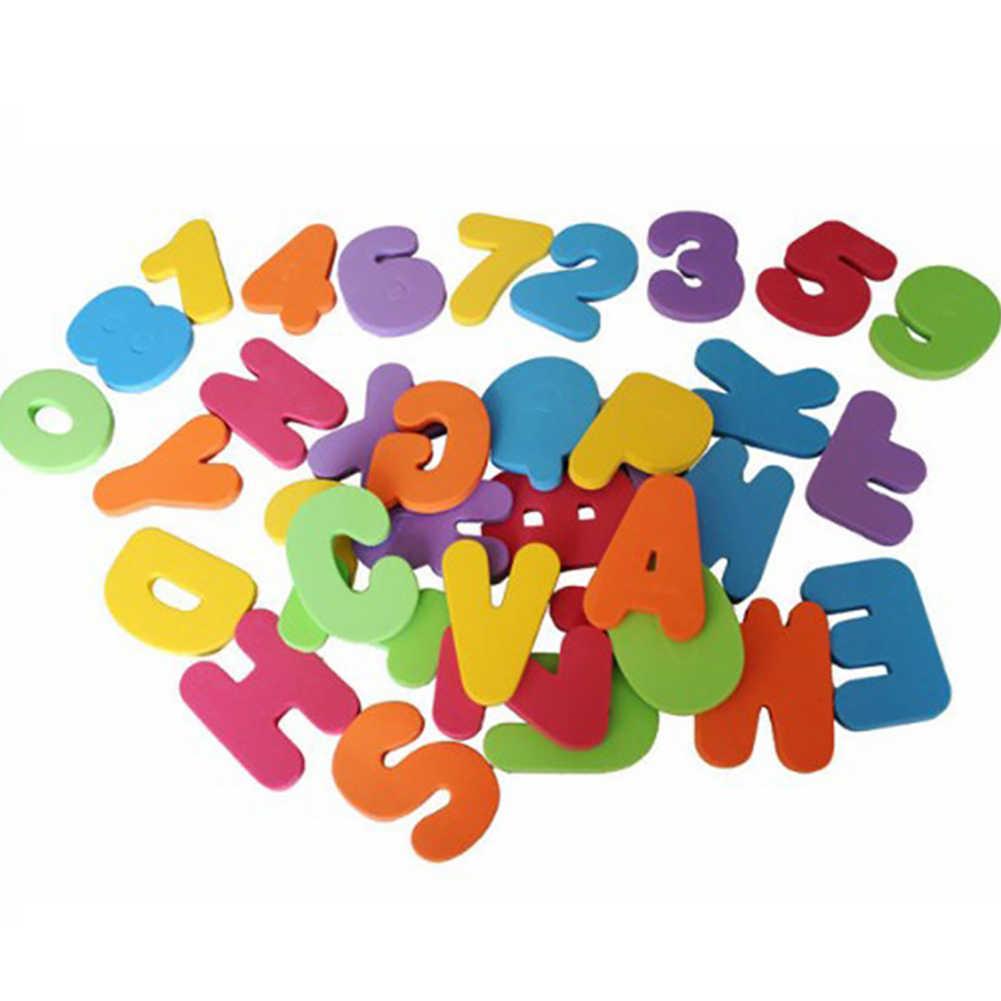 36 Stks/set Zacht Water Game Babybadje Speelgoed Alfabet En Figuur Bad Sticker Puzzel Speelgoed Kids Early Onderwijs Speelgoed Pasgeboren gift
