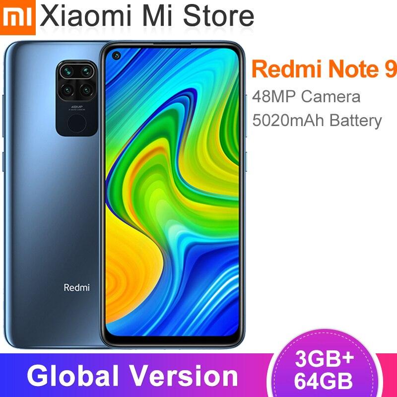 Глобальная версия Xiaomi Redmi Note 9, 3 Гб оперативной памяти, 64 Гб Смартфон 48MP Quad камеры 6,53