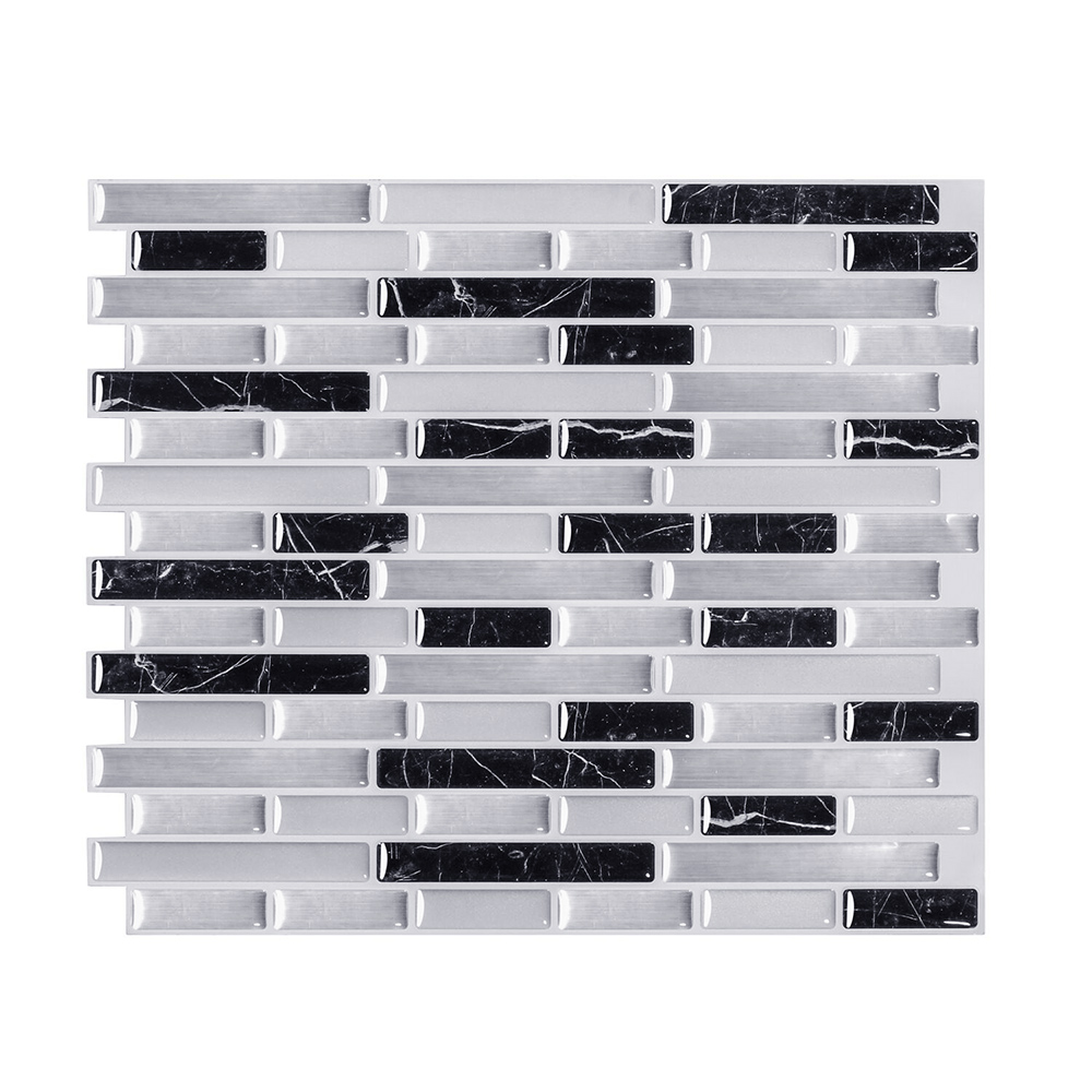 Self Adhesive Vinyl Wallpaper 3d Peel And Stick Wall Brick Tile For Bathroom And Kitchen Backsplash 1 Sheet Wall Stickers Aliexpress