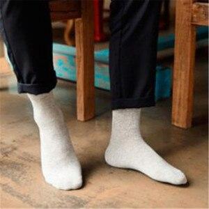 Image 3 - MYORED 10 пар/лот, мужские хлопковые носки, короткие, роскошные брендовые Классические однотонные носки для мужчин, деловое Повседневное платье, носки