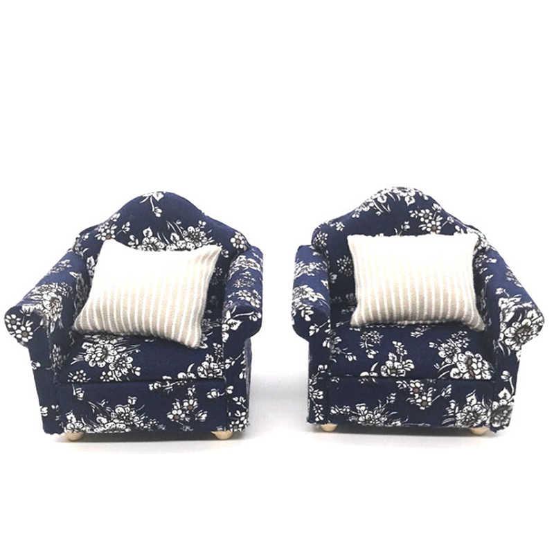 Novo 1:12 em miniatura macio único sofá para bonecas mini móveis brinquedos casa de boneca fingir jogar brinquedo para meninas presente crianças decoração