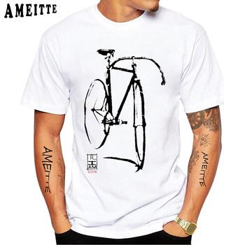Kolekcja Vintage klasyczna koszulka rowerowa koszulka rowerowa nowa letnia męska koszulka z krótkim rękawem Funny Bike Sport Boy białe koszulki w stylu Casual tanie i dobre opinie AMEITTE SHORT CN (pochodzenie) Modalne Cztery pory roku HOLIDAY Z okrągłym kołnierzykiem Regular Sukno Drukuj