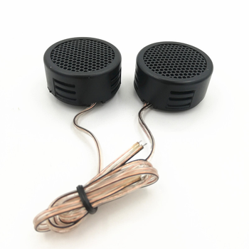 I KEY BUY 1 Pair Universal Car tweeter Buzzer Pressure Pad Type 1.5 Inch Small Tweeter with Tweeter Base, Self-adhesive Sheet image