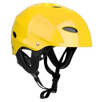цена на Safety Protector Helmet 11 Breathing Holes for Water Sports Kayak Canoe Surf Paddleboard - Yellow