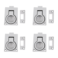 4 Pack Boat Door Hatch Cabinet Lift/Pull Ring Slam Latch 316 Stainless Steel