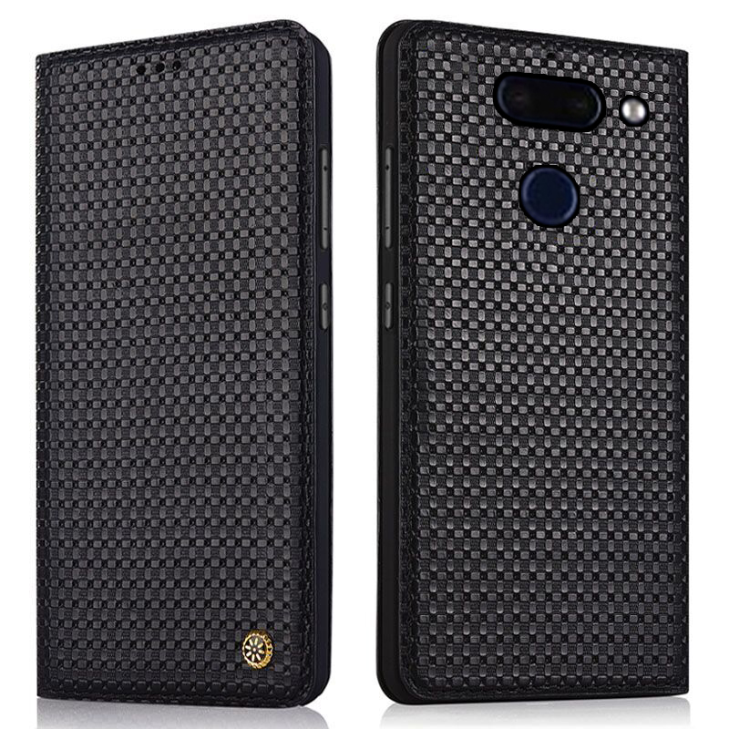 Genuine leather magnetic mobile phone case for LG G8 ThinQ/LG G8S ThinQ/LG G7 ThinQ/LG G6/LG G5/LG G4/V50 ThinQ phone bag case