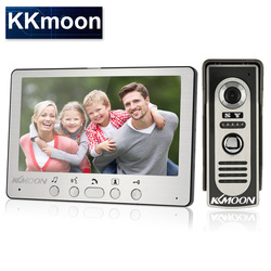 KKmoon 7'' TFT LCD Wired Video Door Phone Visual Video Intercom Speakerphone Intercom System With Waterproof Outdoor IR Camera